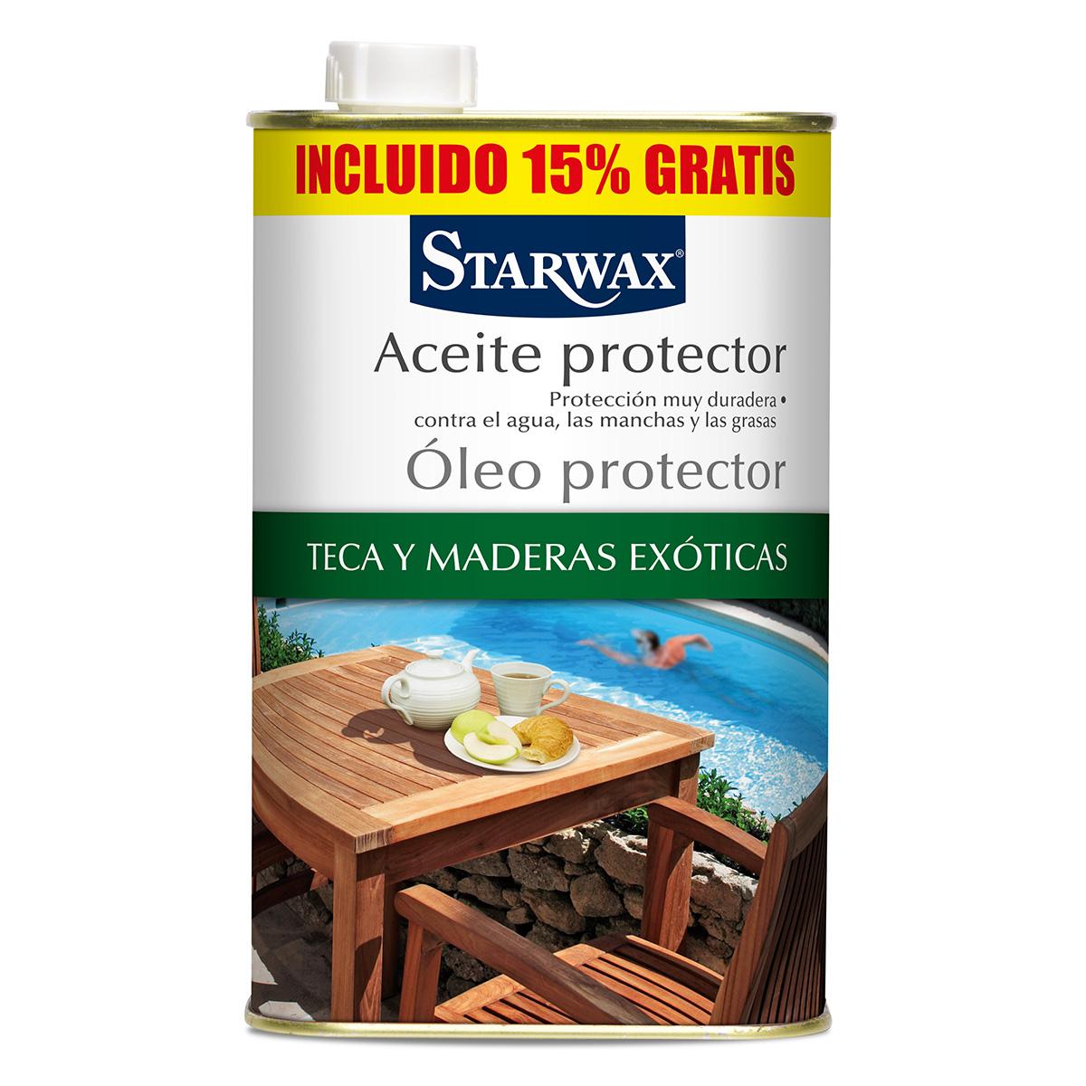 Aceite protector teca y maderas exóticas - Starwax