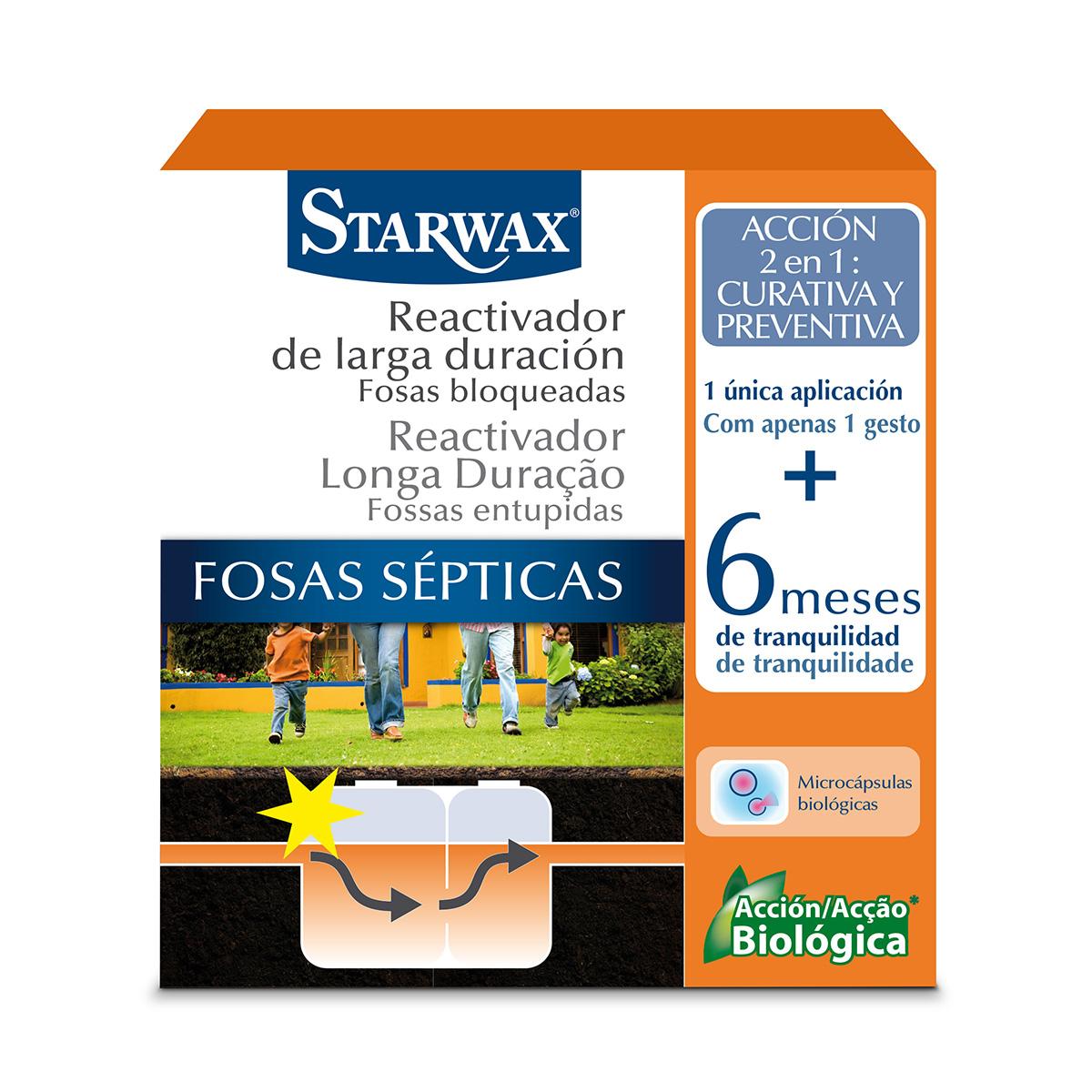 Reactivador de larga duración fosas septicas – Starwax