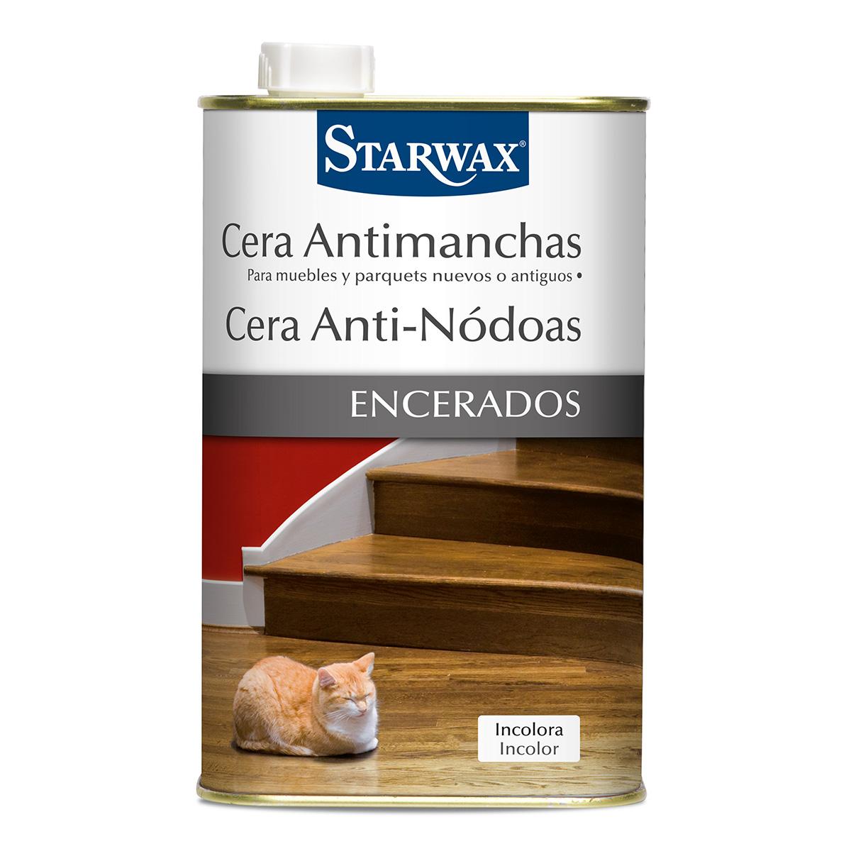 Cera antimanchas muebles, parquets - Starwax